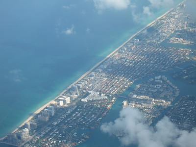 Flying Over Miami Beach