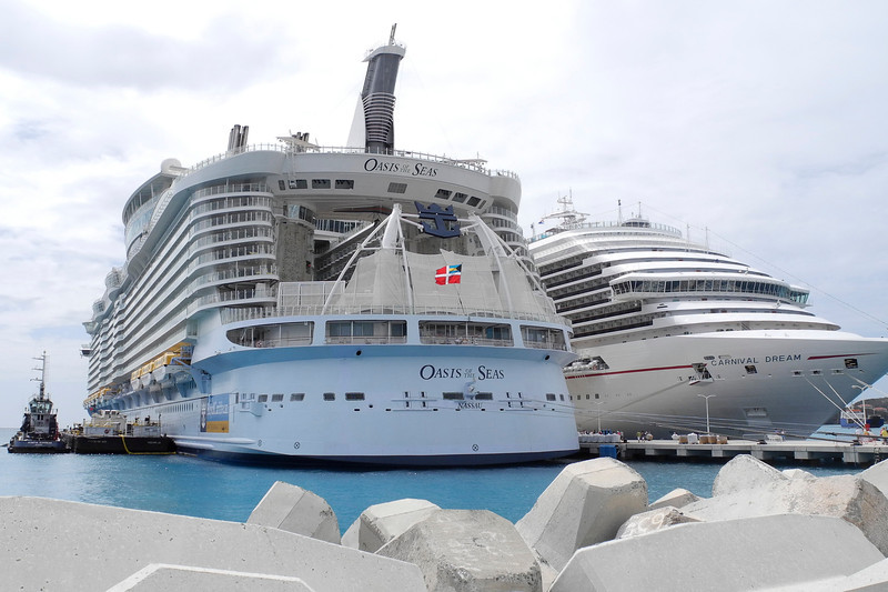 Oasis of the Seas is 1181 ft long, 198 ft wide, and 236 ft tall!