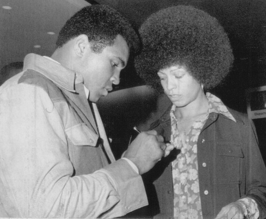 . Angela Davis With Muhammad Ali in 1974. Denver post Library Archive
