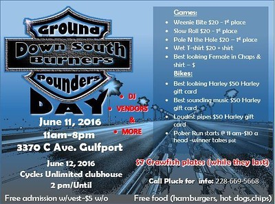 Down South Burners Ground Pounders Day