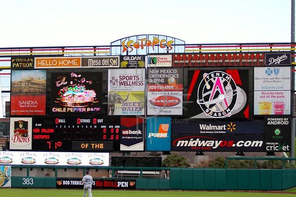 Sandia Isotopes Baseball Night