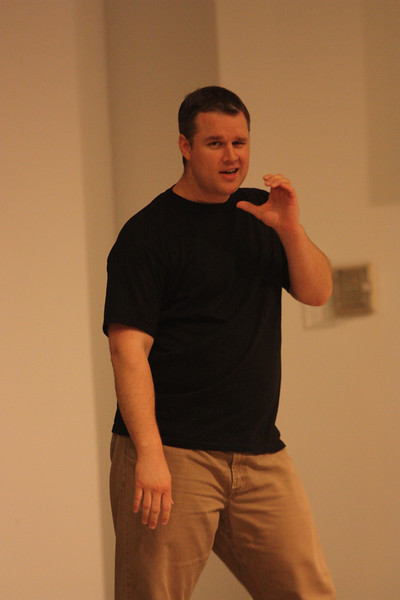 Michael McDaniel performs an Elvis ABC Story during Deaf Performance Night
