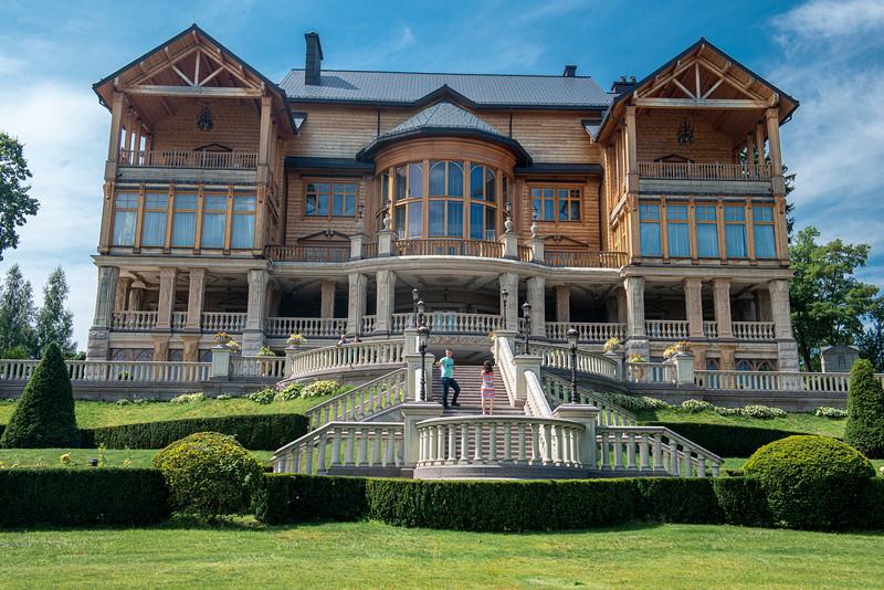 Межигір'я, meaning something like between the hills. Residence of deposed and disgraced former Ukrainian President Yanukovich.