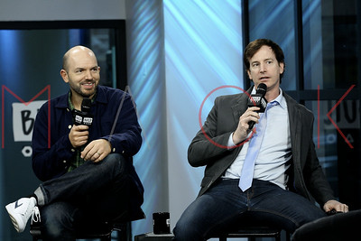 """New York, NY - February 23:  Rob Huebel and Paul Scheer visit BUILD Speaker Series: Discussing """"Drive Share"""", New York, USA."""