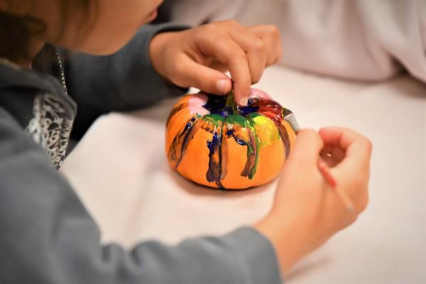 K and 8 Paint Pumpkins for NIH's The Children's Inn
