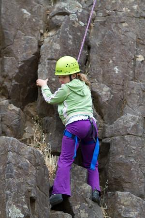 20100731 Sophie Rock Climbing