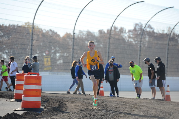 D1 Boys at 2.3 Miles Section 2 - 2020 MHSAA LP XC Finals