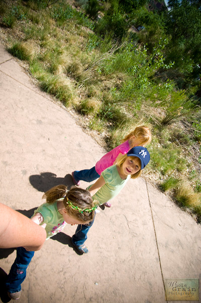 Baby Chain.  My two little ones and my niece hold hands with me as we take a stroll to the Visitor's Center in Zion National Park.
