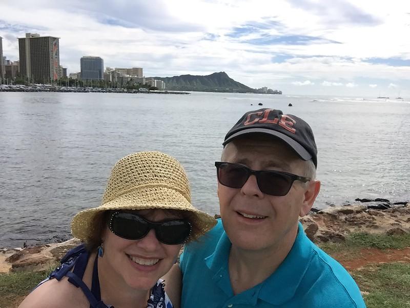 John and I at Ala Moana Beach Park
