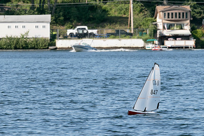 RC sailing boats on Lake Whalom, August 1, 2019