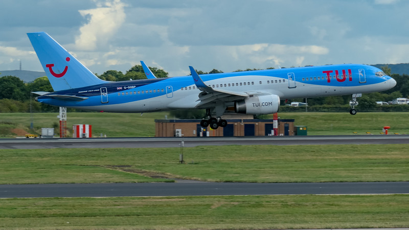 Boeing 757-2G5, G-OOBP, Kefalonia to Manchester -BY2413 / TOM7HW, Manchester Airport, TUI Airways - 16/08/2018:16:57