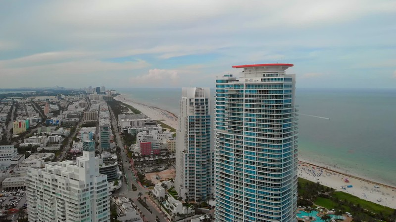 Aerial Miami United States 4k drone video