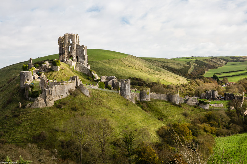 Corfe Castle in the Sun