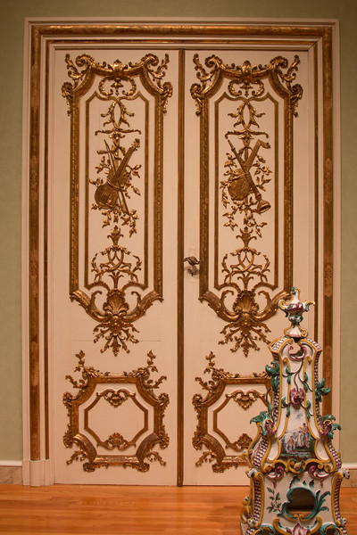 "Double Doors (pair) -- ""After designs ny Francois Cuvillies (1695-1768), designer and architect at the electoral court in Munich, ca 1730-35"" -- Metropolitan Museum of Art, New York"
