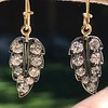 1.85ctw Victorian Leaf Component Earrings 10