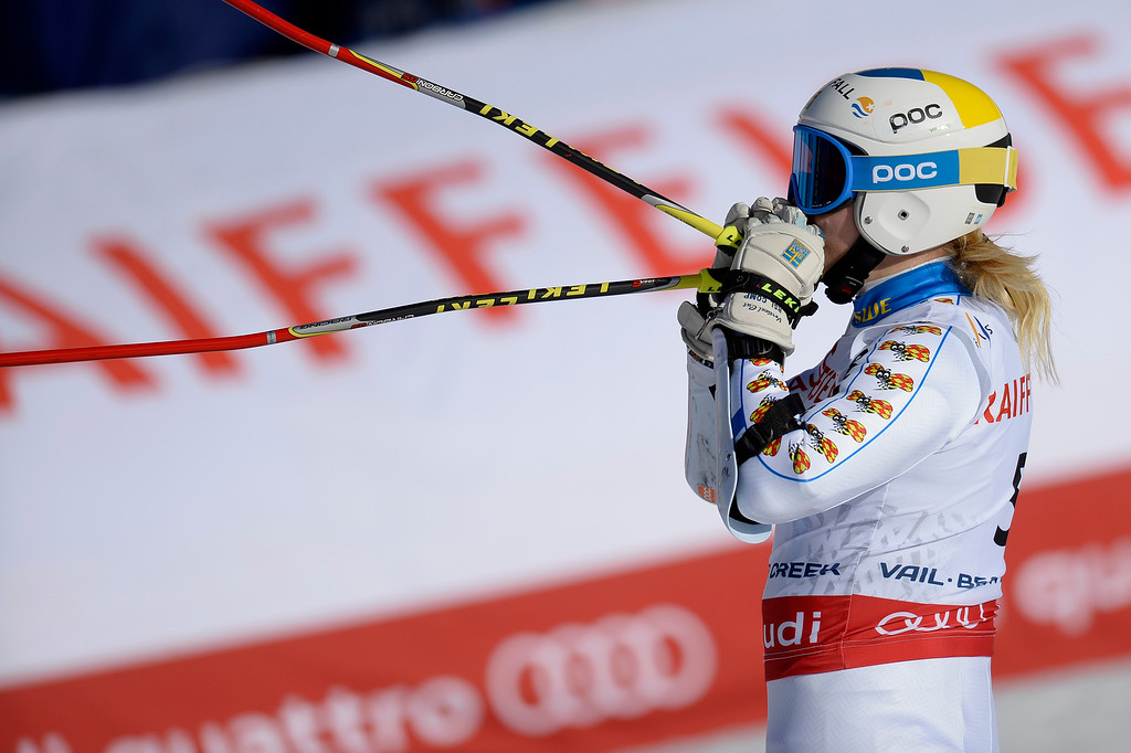 . BEAVER CREEK, CO - FEBRUARY 12: Jessica Lindell-Vikarby of Sweden competes during the ladies\' giant slalom. FIS Alpine World Ski Championships 2015 on Thursday, February 12, 2015. (Photo by AAron Ontiveroz/The Denver Post)