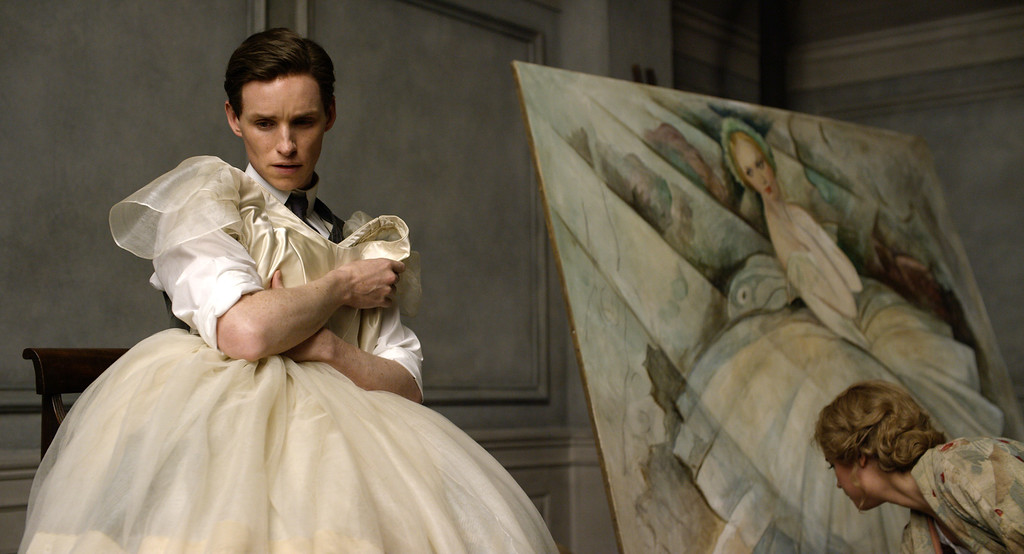 """. This image released by Focus Features shows Eddie Redmayne in a scene from \""""The Danish Girl.\""""Redmayne was nominated for an Oscar for best actor on Thursday, Jan. 14, 2016, for his role in the film. The 88th annual Academy Awards will take place on Sunday, Feb. 28, at the Dolby Theatre in Los Angeles. (Focus Features via AP)"""
