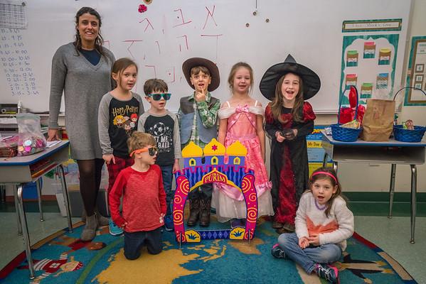 Hebrew School - Purim 2-25-18
