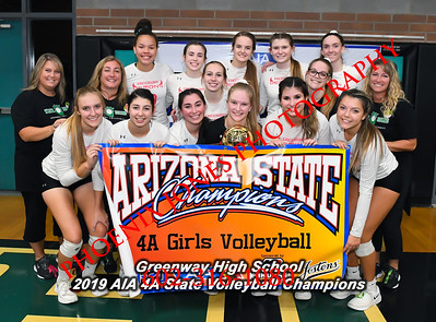 11-13-19 - AIA 4A Volleyball Finals - Awards - Estrella Foothills vs Greenway
