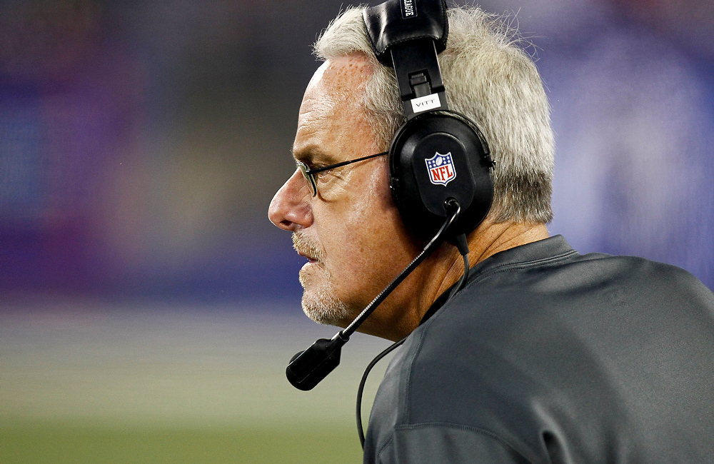 Description of . Joe Vitt, interim head coach of the New Orleans Saints stands on the sidelines during their game against the New York Giants  at MetLife Stadium on December 9, 2012 in East Rutherford, New Jersey.  (Photo by Jeff Zelevansky/Getty Images)