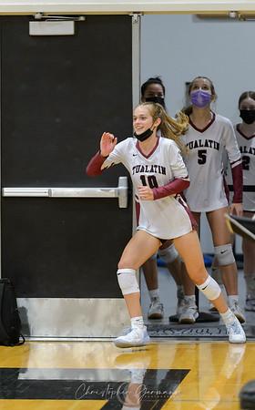 Tualatin HS Varsity Volleyball vs Oregon City