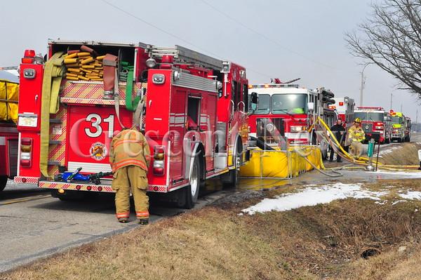 02-18-16 NEWS House & Garage Fire, Rural Bryan