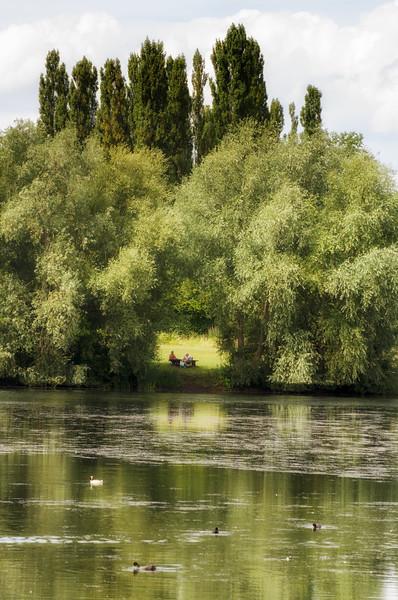 Couple across a lake 2