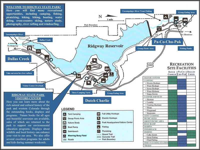 Ridgway State Park (Recreation Facilities Map)