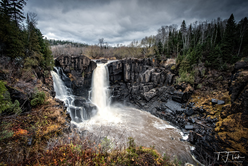 High Falls on the Pigeon River.  Grand Portage State Park, Minnesota