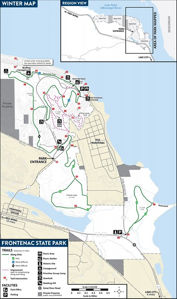 Frontenac State Park (Winter Map)
