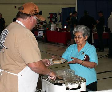 Rick Walton serves another satisfied customer.