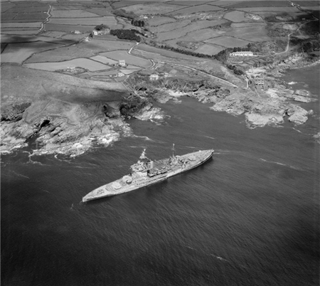 Prussia Cove with the Warspite.