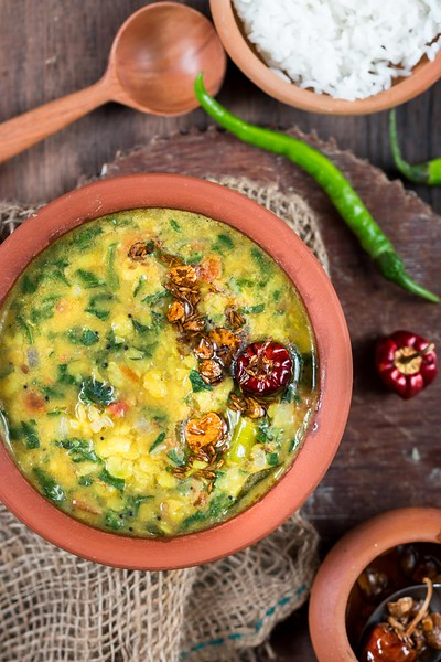 Dhaba Style Dal Palak - Vegan Indian Recipes