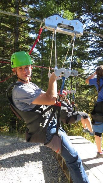 Zip-Lining at Whitefish Mountain Resort