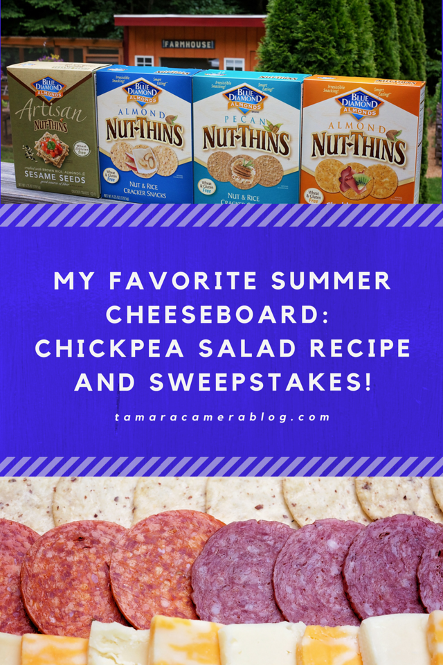 Ready for a summer cheese board? This one is the BEST and is gluten free too! Also, a chickpea salad recipe and a fun #sweepstakes! #ad #NutThinsContest #IC