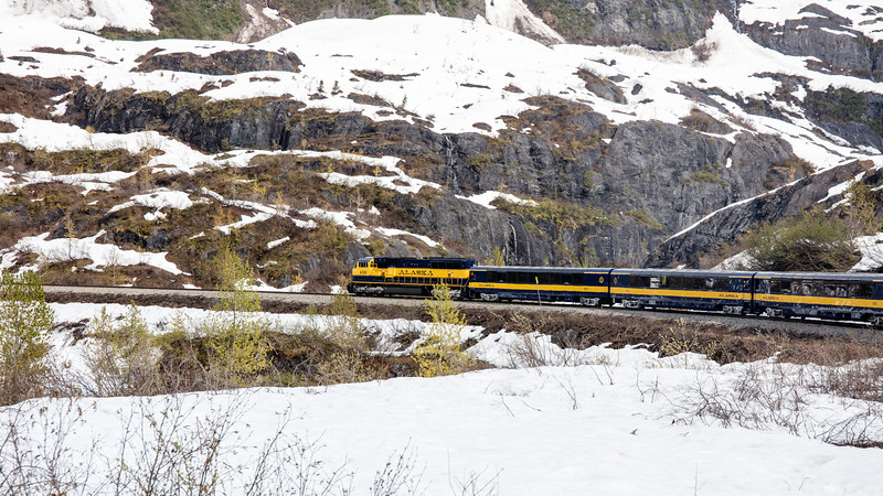 Train from Anchorage to Seward.