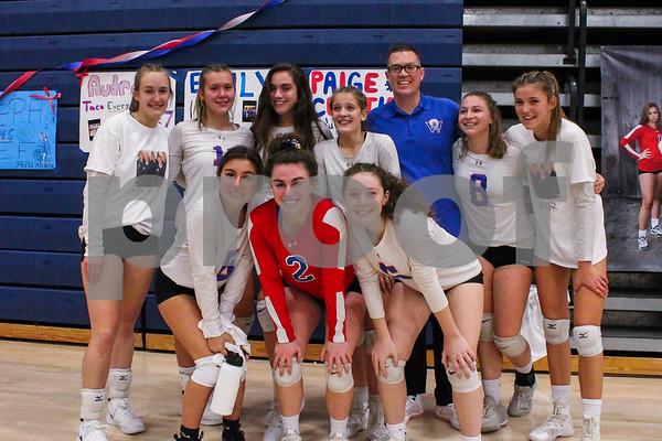 2019-10-25 WHS Girls Volleyball vs Portsmouth Senior Night-Tim Patenaude Photos