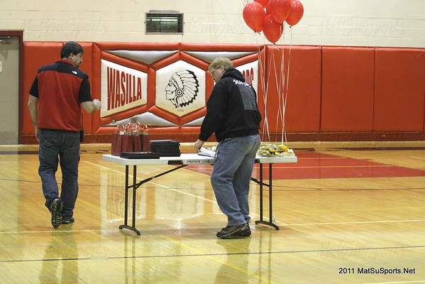 Wasilla Basketball Seniors 2-26-2011