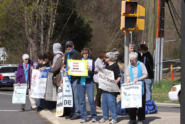 CIA Headquarters Drone Protest April 13, 2013
