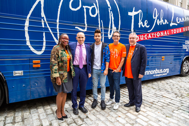2019_09_16, Bus, City Hall, Exterior, New York, NY, Mark Treyger, Alicka Ampry-Samuel, Prince Royce, Brian Rothschild, Daniel Dromm