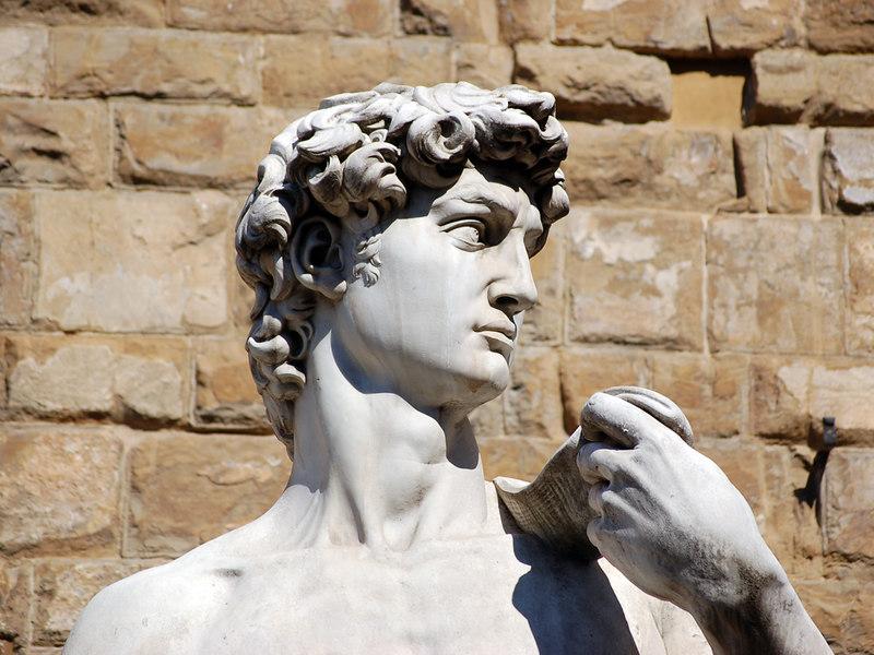 Florence, Italy: Michelangelo's David (copy).