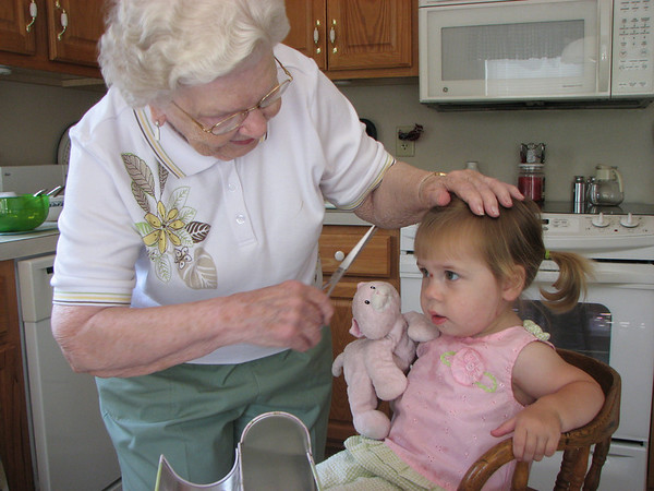 Lydia visits Great Granparents - June 1