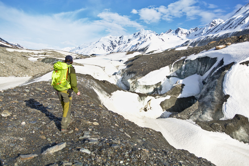 Hiking on the Canwell Glacier