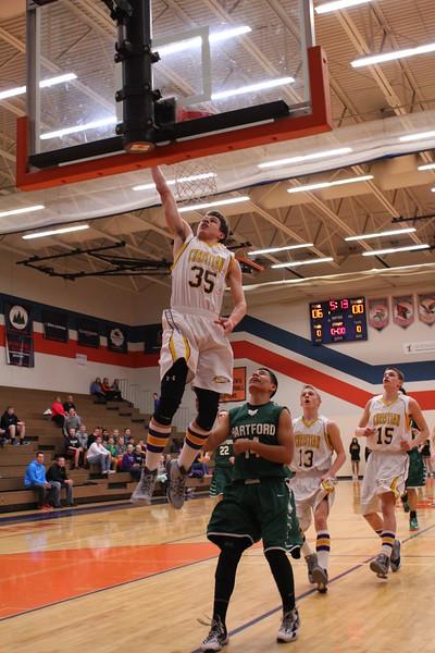 Basketball Boys vs. Hartford - 3/11/15 - Districts KCHS