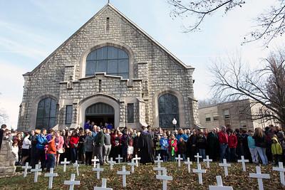 #655 Highland Baptist Memorial Crosses, 12/7/14