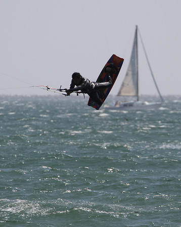 Kiteboarding at Belmont Demo Extreme 2012 May 13