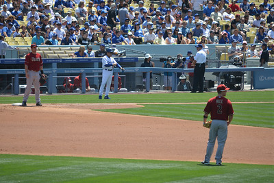 Diamond Backs at Dodgers, Bottom of the Second, 20 April 2014