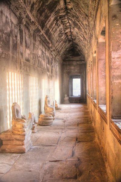 Remains of Buddha statues - Angkor Wat