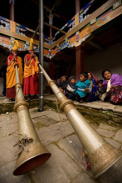 Chiwong Monks. Solu, Nepal.