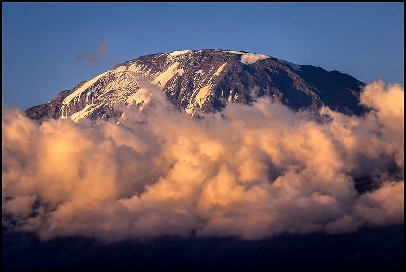 View of Kilimanjaro summit from Moshi